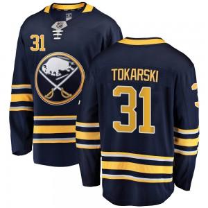 Dustin Tokarski Buffalo Sabres Men's Fanatics Branded Navy Blue Breakaway Home Jersey