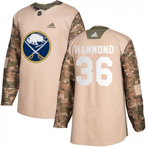 Andrew Hammond Buffalo Sabres Youth Adidas Authentic Camo Veterans Day Practice Jersey