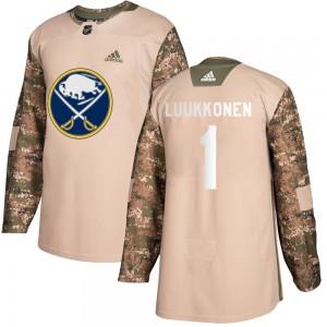 Ukko-Pekka Luukkonen Buffalo Sabres Youth Adidas Authentic Camo Veterans Day Practice Jersey