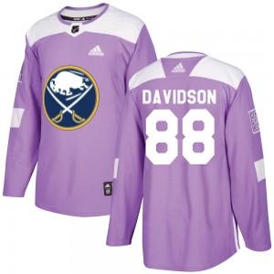 Brandon Davidson Buffalo Sabres Men's Adidas Authentic Purple Fights Cancer Practice Jersey