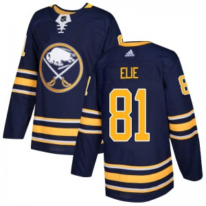 Remi Elie Buffalo Sabres Men's Adidas Authentic Navy Home Jersey