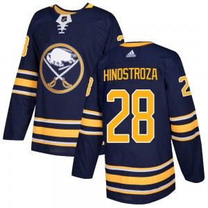Vinnie Hinostroza Buffalo Sabres Men's Adidas Authentic Navy Home Jersey