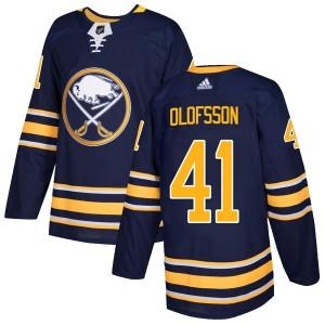 Victor Olofsson Buffalo Sabres Men's Adidas Authentic Navy Home Jersey