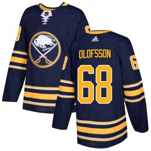 Victor Olofsson Buffalo Sabres Men's Adidas Authentic Navy Home Jersey