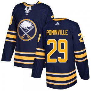 Jason Pominville Buffalo Sabres Men's Adidas Authentic Navy Home Jersey