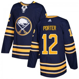Kevin Porter Buffalo Sabres Men's Adidas Authentic Navy Home Jersey