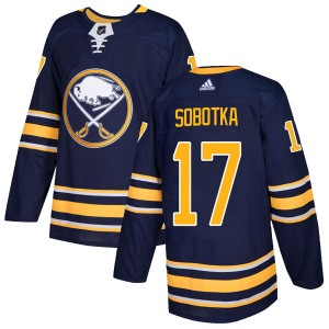 Vladimir Sobotka Buffalo Sabres Men's Adidas Authentic Navy Home Jersey