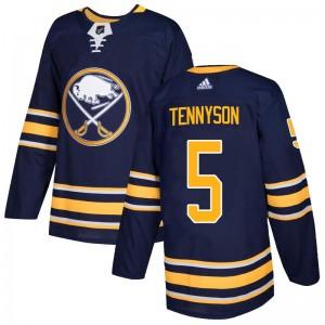 Matt Tennyson Buffalo Sabres Men's Adidas Authentic Navy Home Jersey