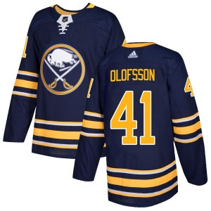 Victor Olofsson Buffalo Sabres Youth Adidas Authentic Navy Home Jersey
