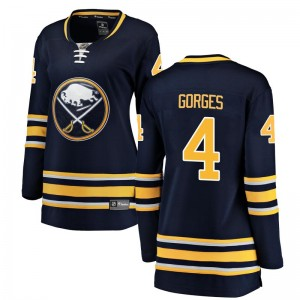 Josh Gorges Buffalo Sabres Women's Fanatics Branded Navy Blue Breakaway Home Jersey