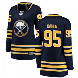 Dominik Kahun Buffalo Sabres Women's Fanatics Branded Navy Blue ized Breakaway Home Jersey