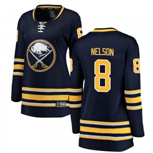 Casey Nelson Buffalo Sabres Women's Fanatics Branded Navy Blue Breakaway Home Jersey
