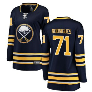 Evan Rodrigues Buffalo Sabres Women's Fanatics Branded Navy Blue Breakaway Home Jersey