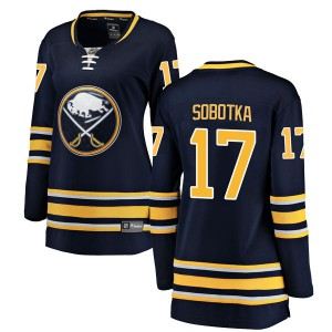 Vladimir Sobotka Buffalo Sabres Women's Fanatics Branded Navy Blue Breakaway Home Jersey