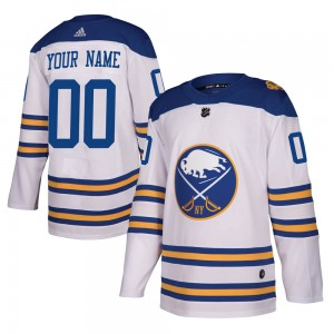 Men's Adidas Buffalo Sabres Customized Authentic White 2018 Winter Classic Jersey