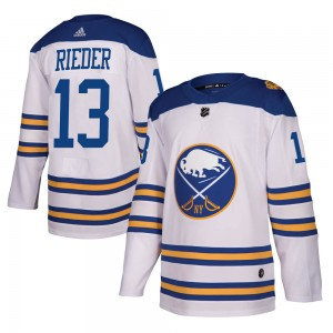 Tobias Rieder Buffalo Sabres Men's Adidas Authentic White 2018 Winter Classic Jersey