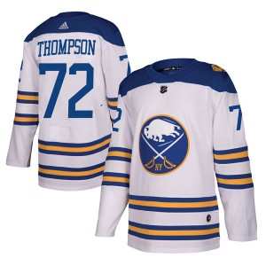 Tage Thompson Buffalo Sabres Men's Adidas Authentic White 2018 Winter Classic Jersey