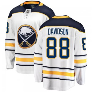 Brandon Davidson Buffalo Sabres Men's Fanatics Branded White Breakaway Away Jersey