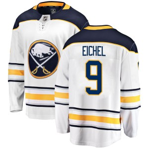 Jack Eichel Buffalo Sabres Men's Fanatics Branded White Breakaway Away Jersey