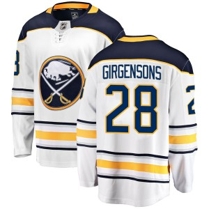 Zemgus Girgensons Buffalo Sabres Men's Fanatics Branded White Breakaway Away Jersey