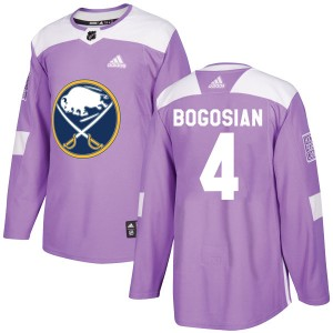 Zach Bogosian Buffalo Sabres Youth Adidas Authentic Purple Fights Cancer Practice Jersey