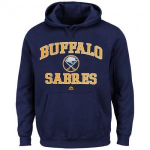 Buffalo Sabres Men's Majestic Navy Blue Heart & Soul Hoodie