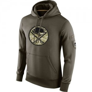 Buffalo Sabres Men's Nike Olive Salute To Service KO Performance Hoodie