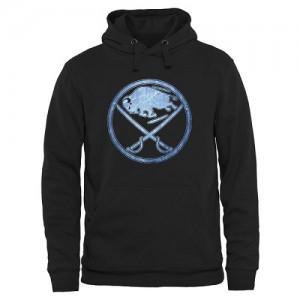 Buffalo Sabres Men's Black Rinkside Pond Hockey Pullover Hoodie