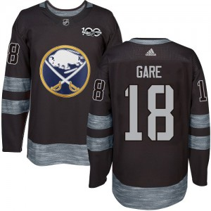 Danny Gare Buffalo Sabres Men's Adidas Authentic Black 1917-2017 100th Anniversary Jersey