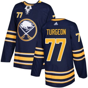 Pierre Turgeon Buffalo Sabres Men's Adidas Authentic Navy Jersey