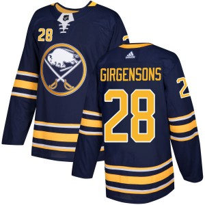 Zemgus Girgensons Buffalo Sabres Men's Adidas Authentic Navy Jersey
