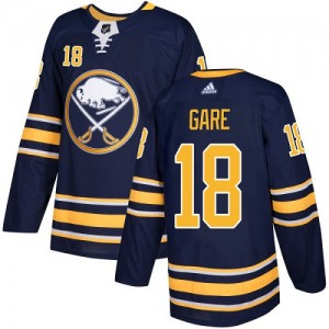 Danny Gare Buffalo Sabres Youth Adidas Authentic Navy Blue Home Jersey