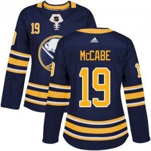 Jake McCabe Buffalo Sabres Women's Adidas Authentic Navy Blue Home Jersey