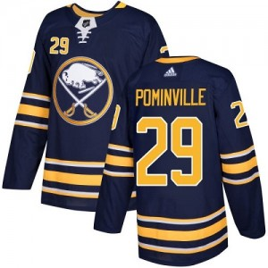 Jason Pominville Buffalo Sabres Youth Adidas Authentic Navy Blue Home Jersey