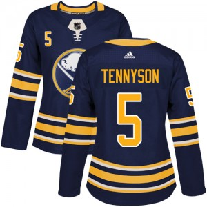 Matt Tennyson Buffalo Sabres Women's Adidas Authentic Navy Blue Home Jersey