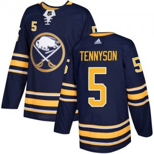 Matt Tennyson Buffalo Sabres Youth Adidas Authentic Navy Blue Home Jersey