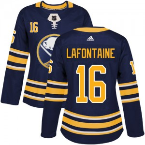 Pat Lafontaine Buffalo Sabres Women's Adidas Authentic Navy Blue Home Jersey