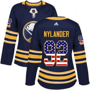 Alexander Nylander Buffalo Sabres Women's Adidas Authentic Navy Blue USA Flag Fashion Jersey