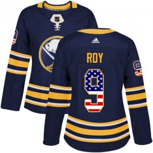 Derek Roy Buffalo Sabres Women's Adidas Authentic Navy Blue USA Flag Fashion Jersey