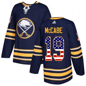 Jake McCabe Buffalo Sabres Youth Adidas Authentic Navy Blue USA Flag Fashion Jersey
