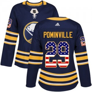 Jason Pominville Buffalo Sabres Women's Adidas Authentic Navy Blue USA Flag Fashion Jersey