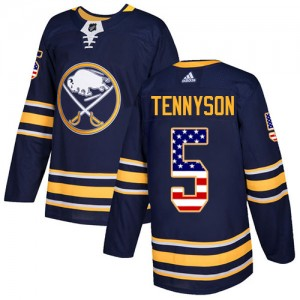 Matt Tennyson Buffalo Sabres Men's Adidas Authentic Navy Blue USA Flag Fashion Jersey