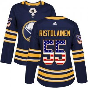 Rasmus Ristolainen Buffalo Sabres Women's Adidas Authentic Navy Blue USA Flag Fashion Jersey