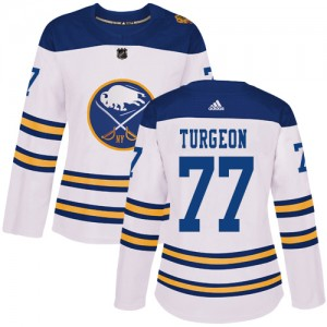 Pierre Turgeon Buffalo Sabres Women's Adidas Authentic White 2018 Winter Classic Jersey