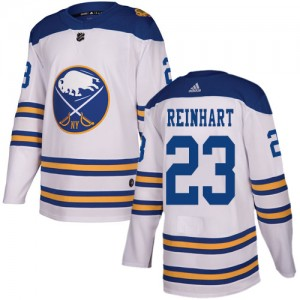 Sam Reinhart Buffalo Sabres Men's Adidas Authentic White 2018 Winter Classic Jersey