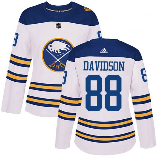 Brandon Davidson Buffalo Sabres Women's Adidas Authentic White 2018 Winter Classic Jersey