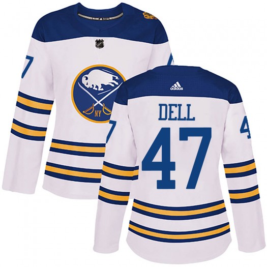 Aaron Dell Buffalo Sabres Women's Adidas Authentic White 2018 Winter Classic Jersey