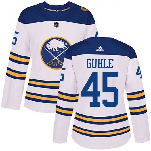 Brendan Guhle Buffalo Sabres Women's Adidas Authentic White 2018 Winter Classic Jersey