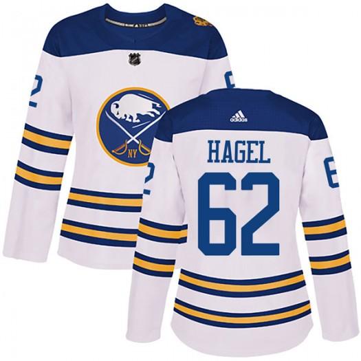 Brandon Hagel Buffalo Sabres Women's Adidas Authentic White 2018 Winter Classic Jersey
