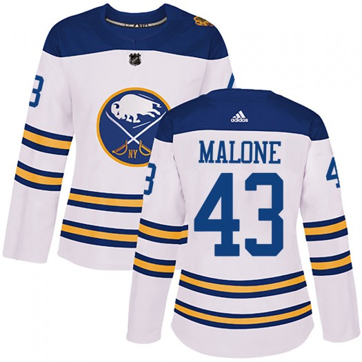Sean Malone Buffalo Sabres Women's Adidas Authentic White 2018 Winter Classic Jersey